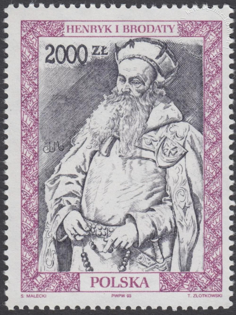 Poczet królów i książąt polskich znaczek nr 3287