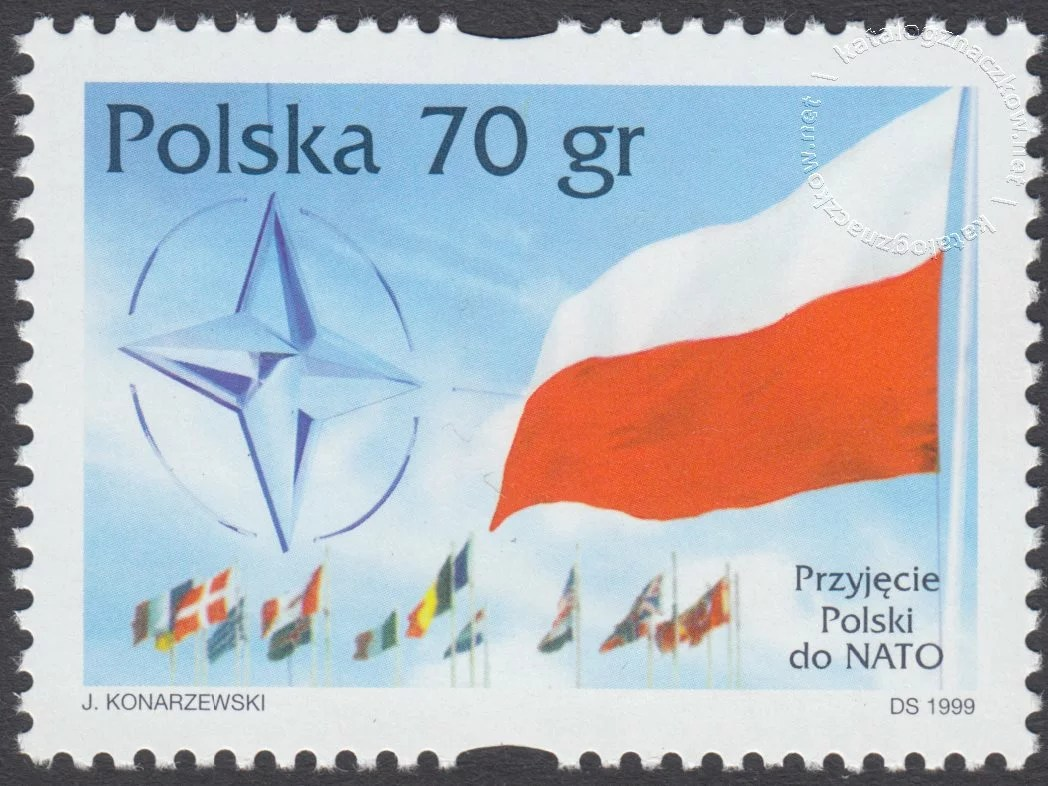 Przyjęcie Polski do NATO znaczek nr 3613