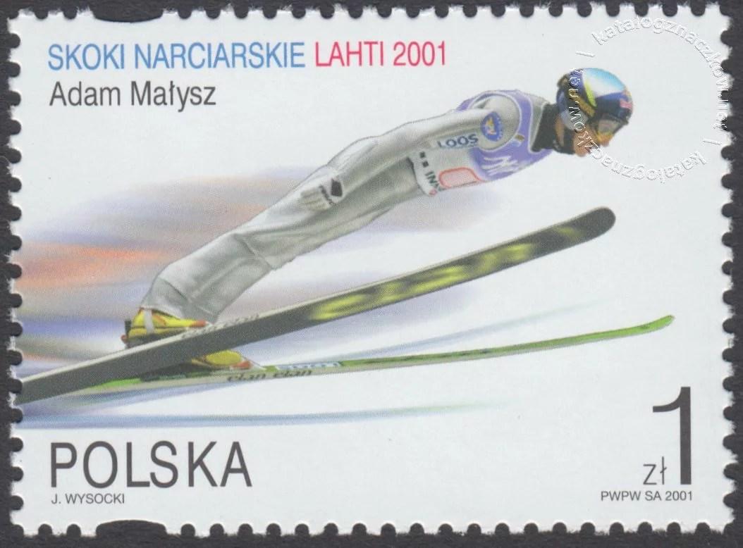 Skoki narciarskie na Mistrzostwach Świata Lahti 2001 znaczek nr 3730III