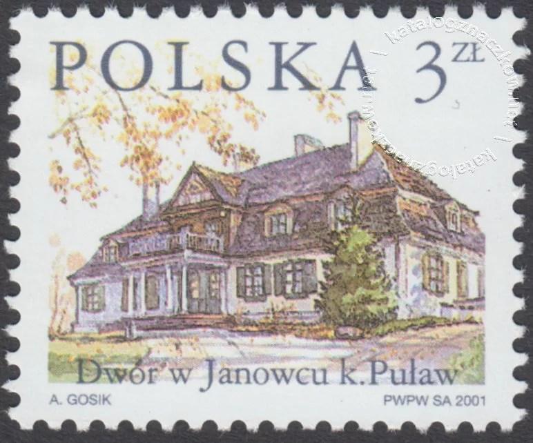 Dworki polskie znaczek nr 3732
