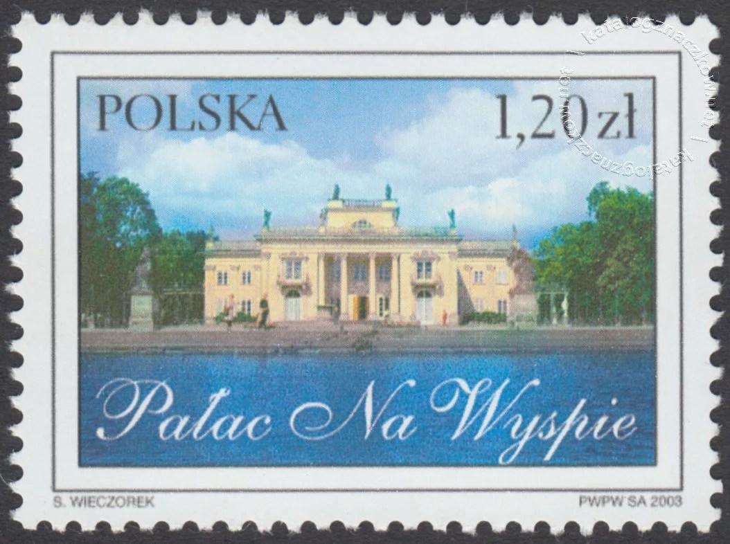 Łazienki Królewskie znaczek nr 3902