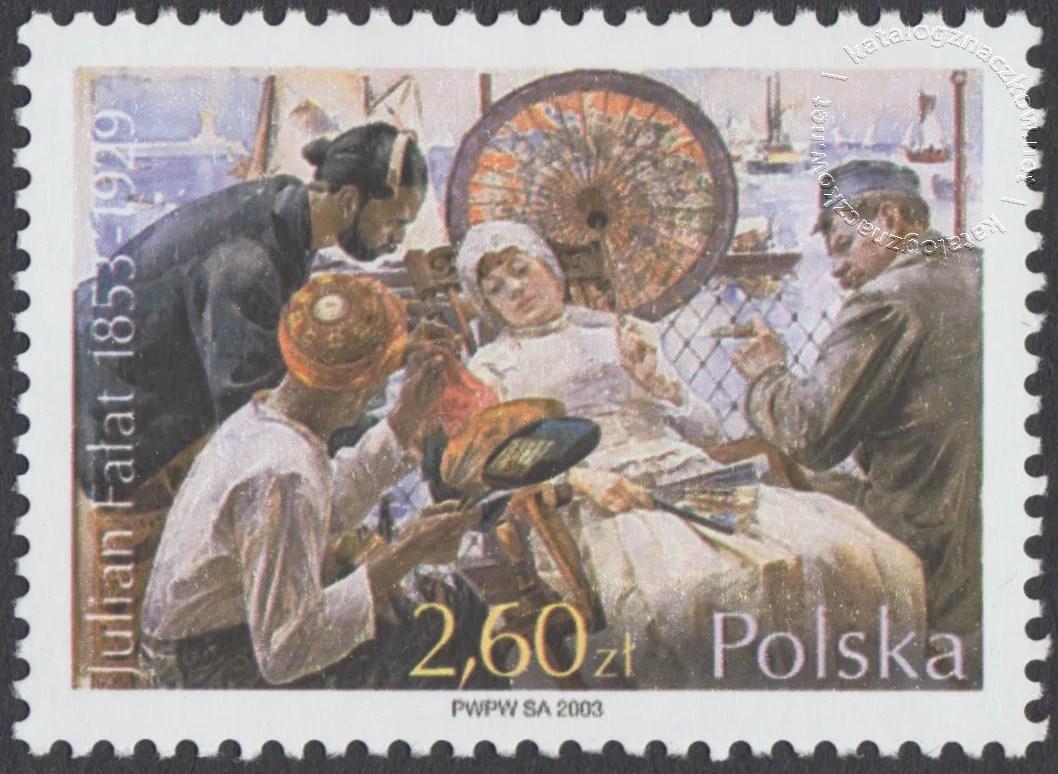 150 rocznica urodzin Juliana Fałata znaczek nr 3918