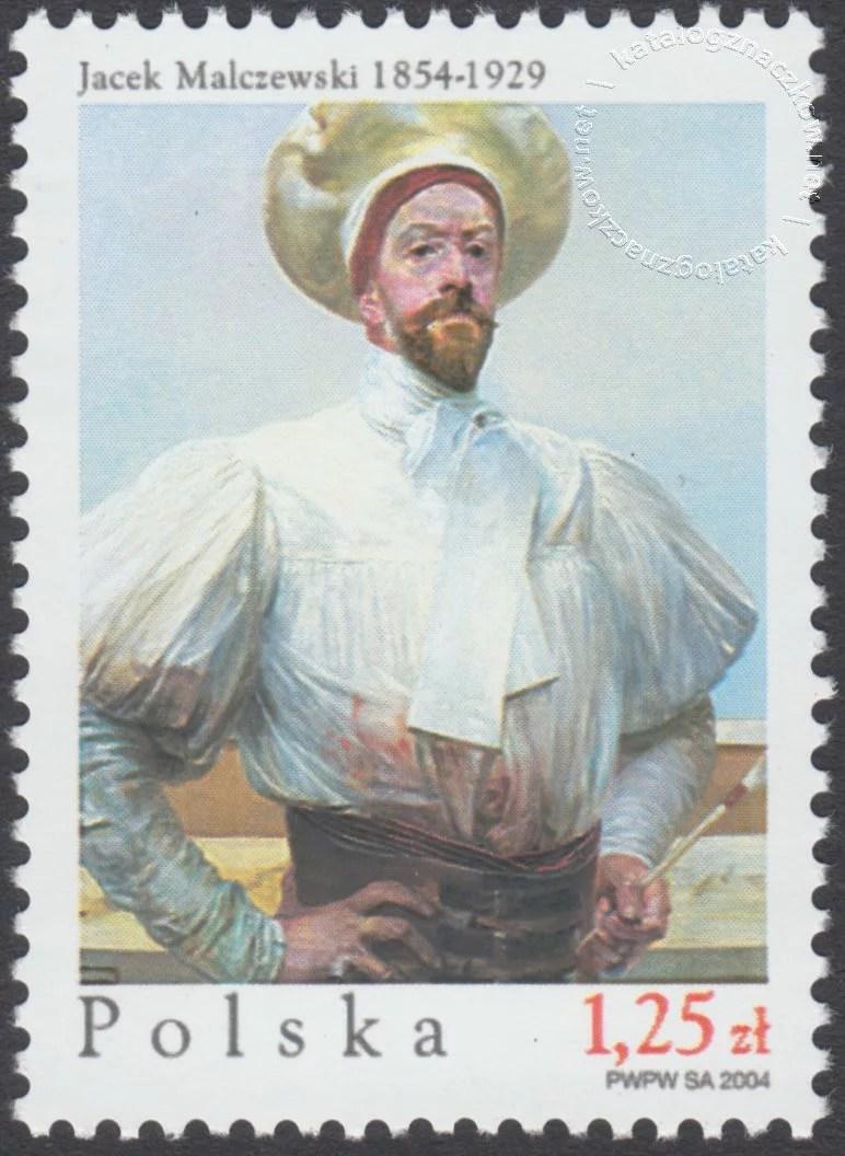 150 rocznica urodzin Jacka Malczewskiego znaczek nr 3971