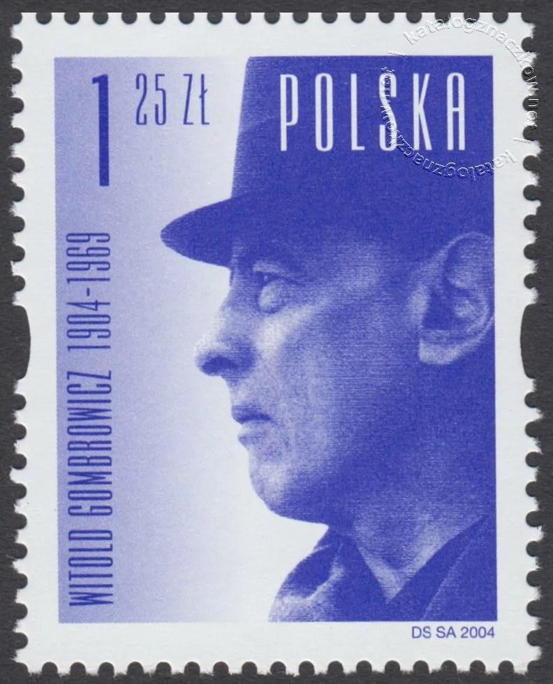 100 rocznica urodzin Witolda Gombrowicza znaczek nr 3980