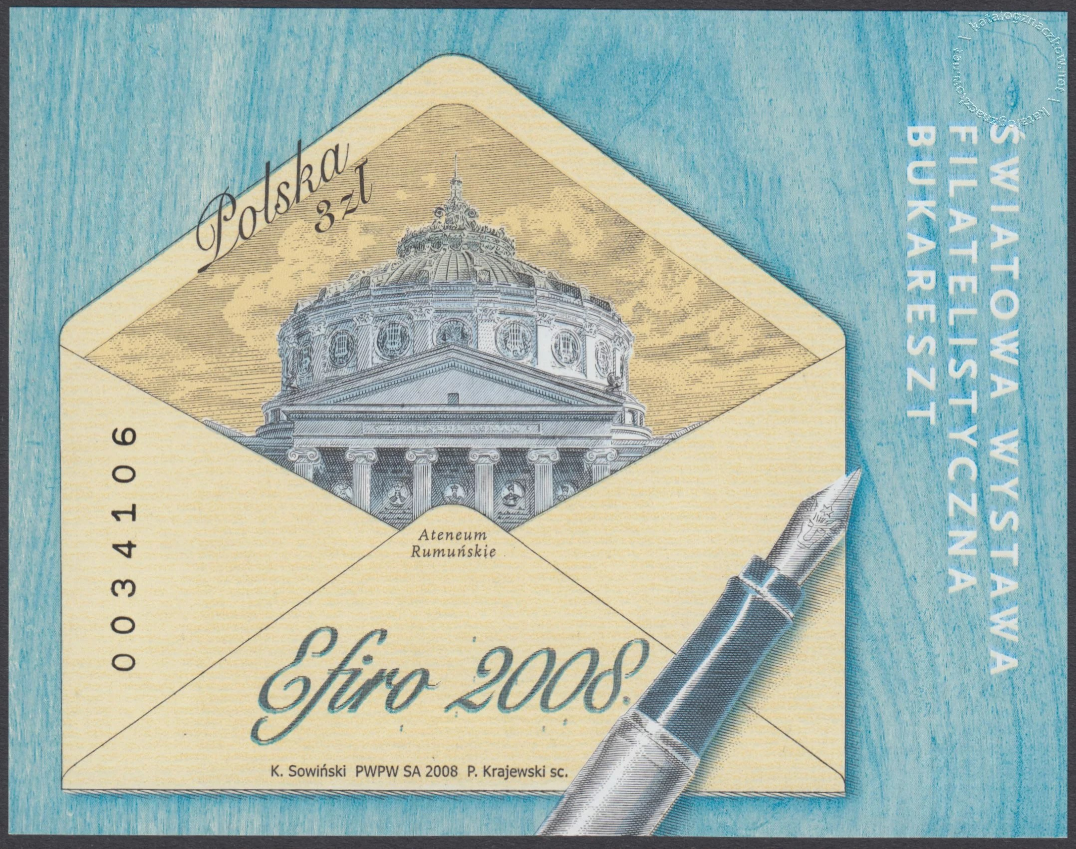 Światowa Wystawa Filatelistyczna – EFIRO 2008 – Blok 147A