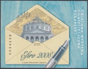 Światowa Wystawa Filatelistyczna - EFIRO 2008 - Blok 147A