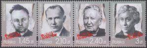 Ocaleli z zagłady znaczki nr 4258-4261