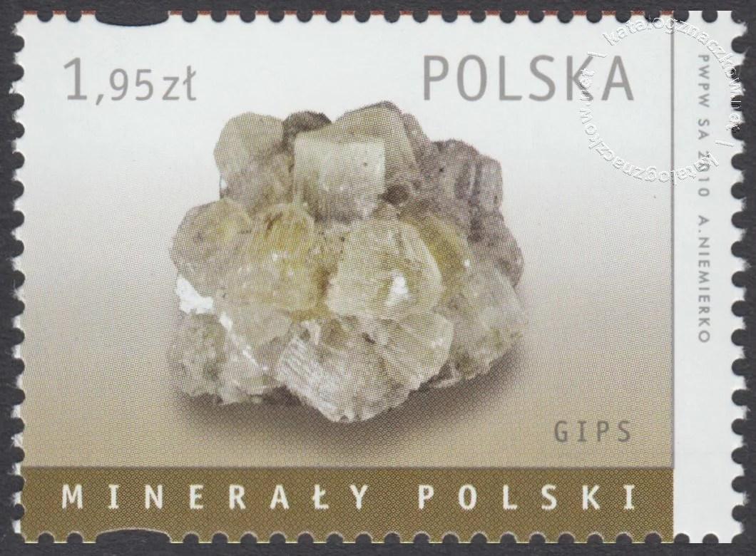 Minerały Polski znaczek nr 4343