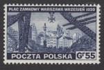 Zniszczenia dokonane przez Niemców w Polsce. Wojsko polskie w Wielkiej Brytanii - znaczek nr D338