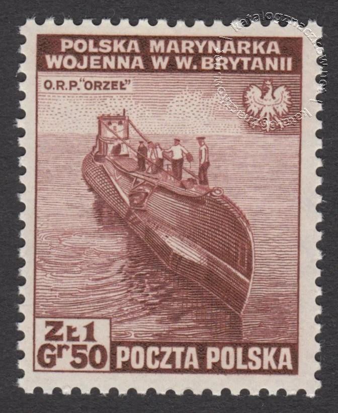 Zniszczenia dokonane przez Niemców w Polsce. Wojsko polskie w Wielkiej Brytanii znaczek nr H338