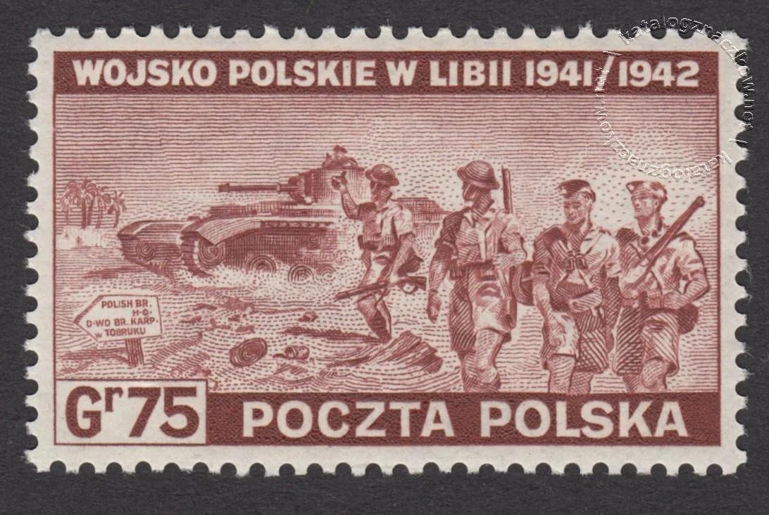 Polskie siły zbrojne w walce z Niemcami  znaczek nr Ł338
