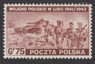 Polskie siły zbrojne w walce z Niemcami - znaczek nr Ł338