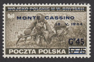 Zdobycie Monte Cassino - znaczek nr P338