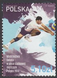 Mistrzostwa świata w piłce siatkowej mężczyzn Polska 2014 - znaczek nr 4553