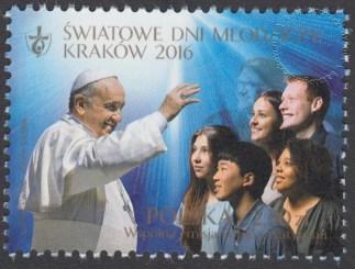 Światowe Dni Młodzieży Kraków 2016 - znaczek nr 4682