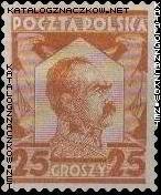 Znaczek obiegowy - Józef Piłsudski - 234