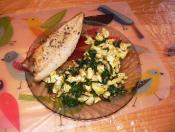 karfiol, saláta, makréla