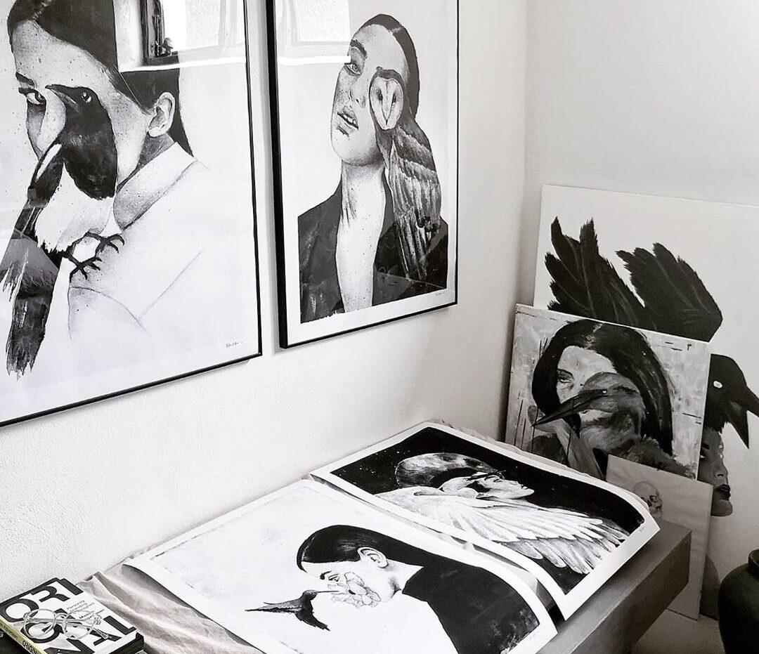 Støt en kunstner – Katarina Natalie – Kunstprint og malerier