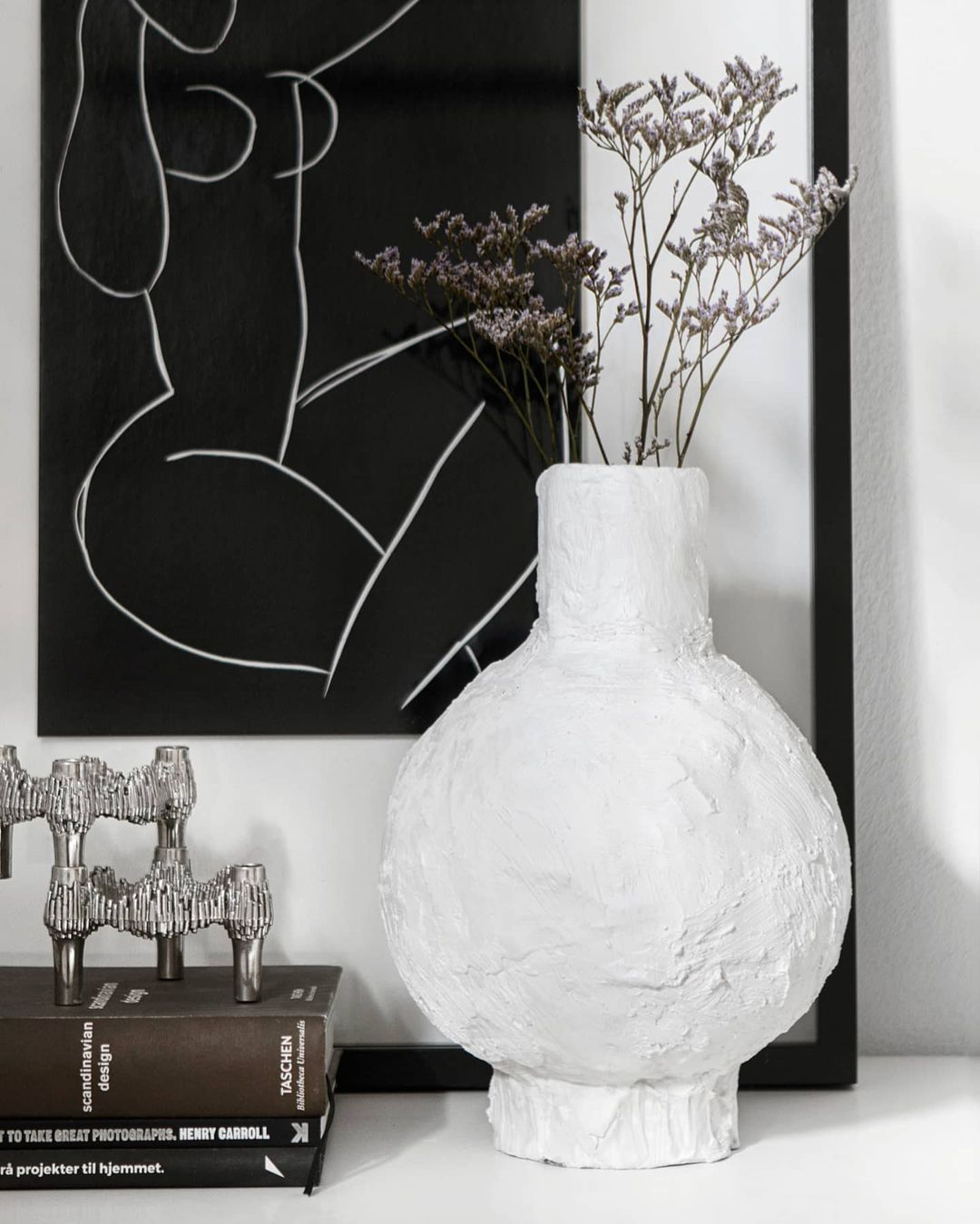 DIY organisk vase i gips | Samarbejde med Grafical.dk
