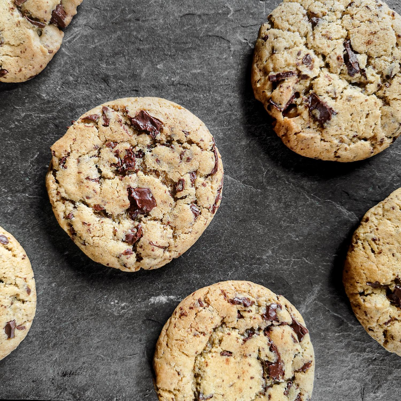 Lækre nemme chocolate chip cookies