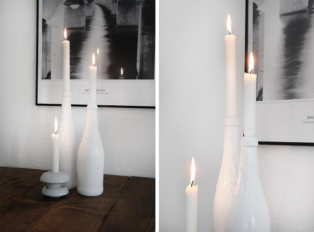 DIY flaske lysestager || Katarina Natalie