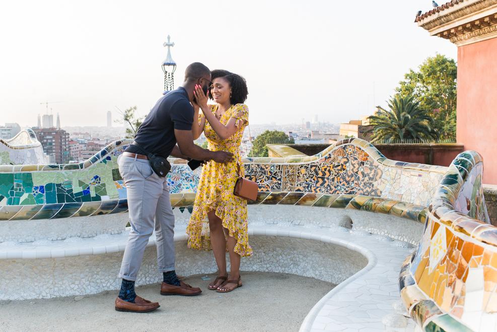surprise proposal Park Güell