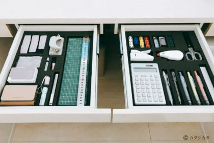 机の引出し収納 ー [ツール管理シート]で文房具を整理整頓