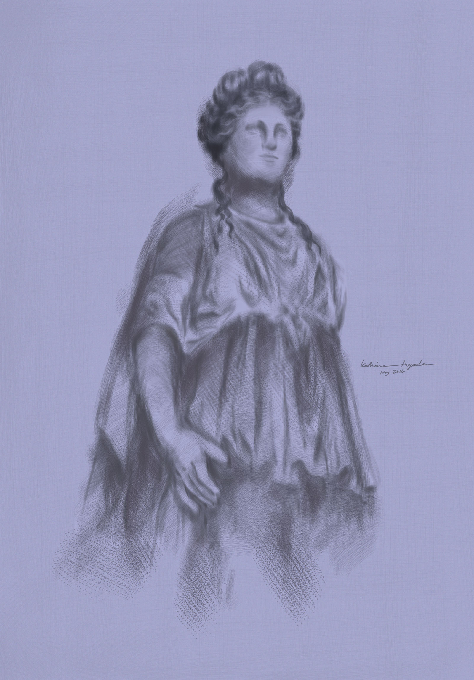 Classical Statue Digital Painting Study