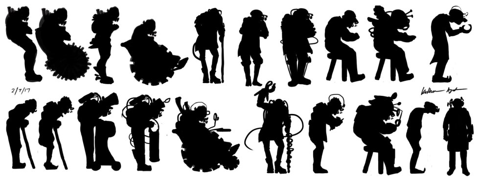 20 Shoemaker Character Silhouettes