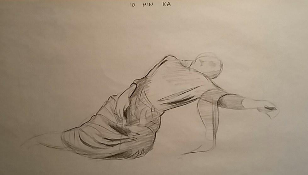 10 Minute draped sketch