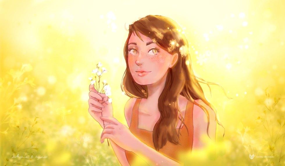 Golden Spring Digital Painting