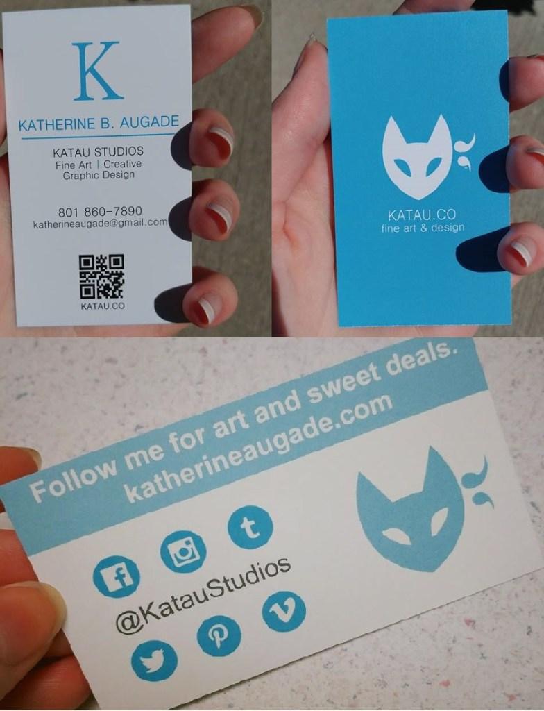 Katau Studios Logo and Business Card Designs by Katherine Augade