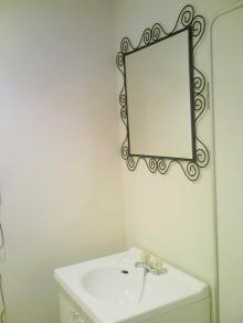 ●イケアの鏡で模様替え♪~洗面所