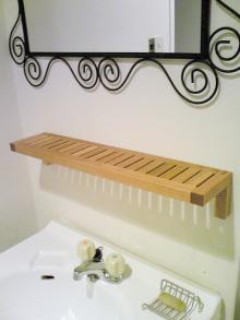 ●イケアの棚で洗面台をもっとかわいく使いやすく♪
