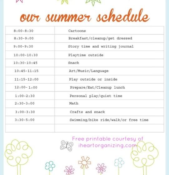 SummerSchedule
