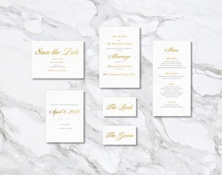 Week 3 - Gold Wedding Stationary