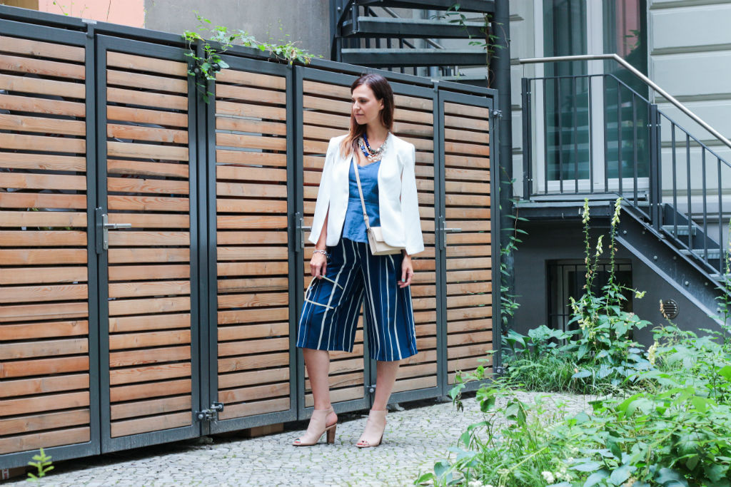Zara Denim Top-blue Culotte-white Cape_05