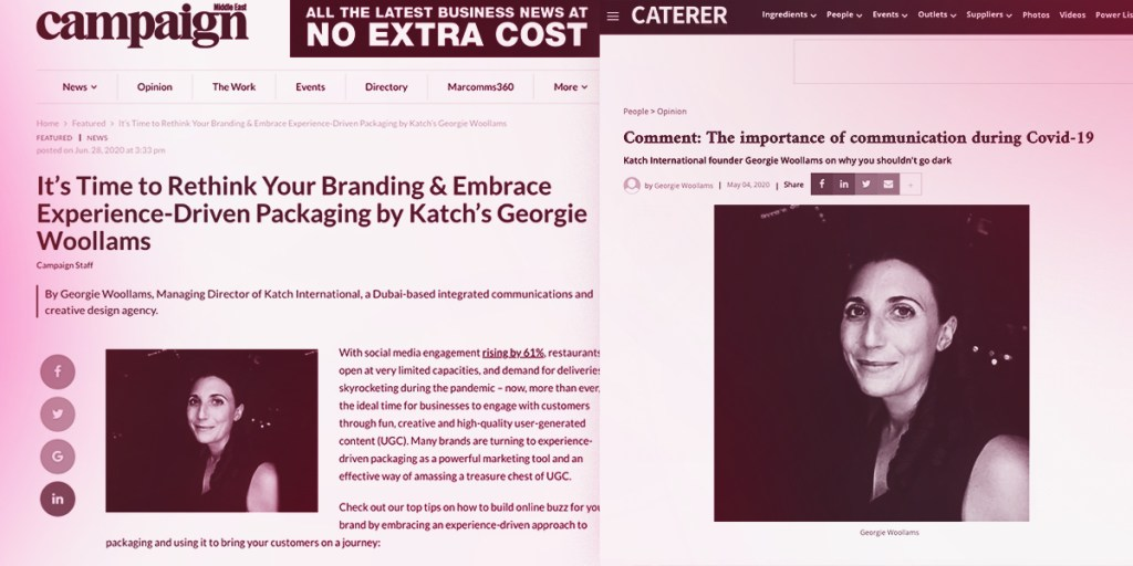 Campaign Middle East & Caterer coverage