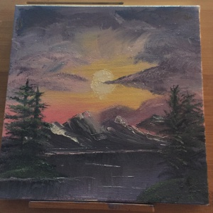 kate aaron bob ross sunset aglow