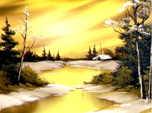 bob ross golden glow