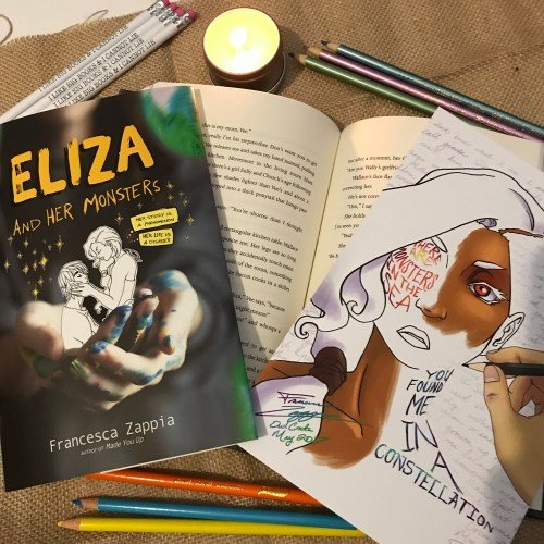 Eliza and Her Monsters by Francesca Zappia on Cover to Cover Book and Blogging Blog Yearbook Superlatives by Kat Snark