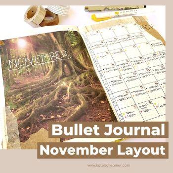 November 2020 Bullet Journal Layout