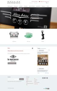 Machina Espresso homepage