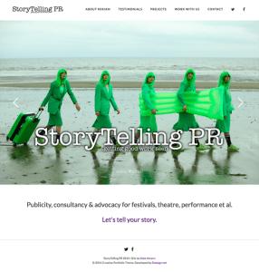 StoryTelling PR homepage