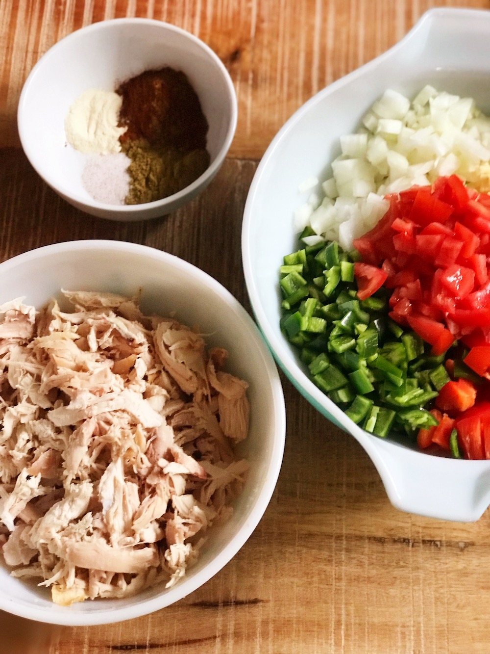 Ingredients for White Chicken Chili