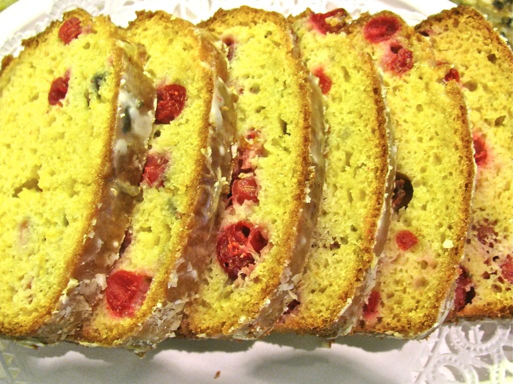 Fresh Orange Cranberry Tea Cake