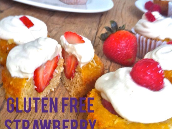 Gluten Free Strawberry Shortcake Cupcakes
