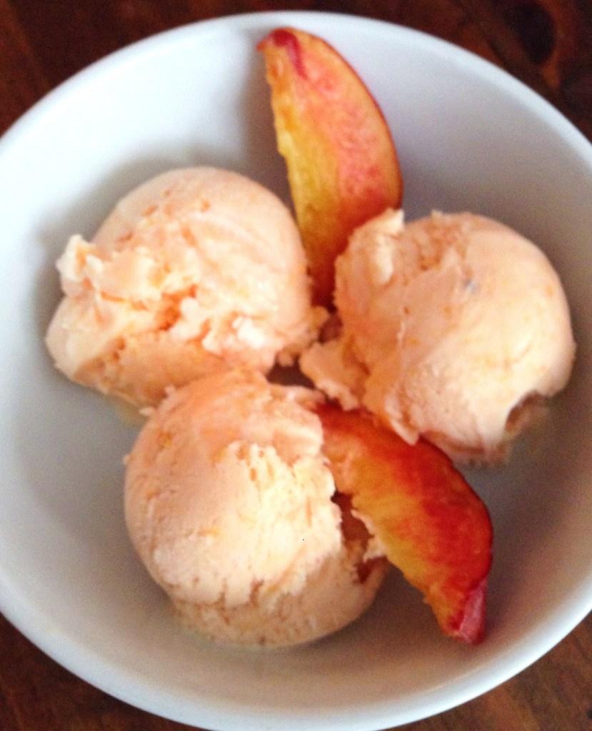 Easy Peach Ice Cream Recipe