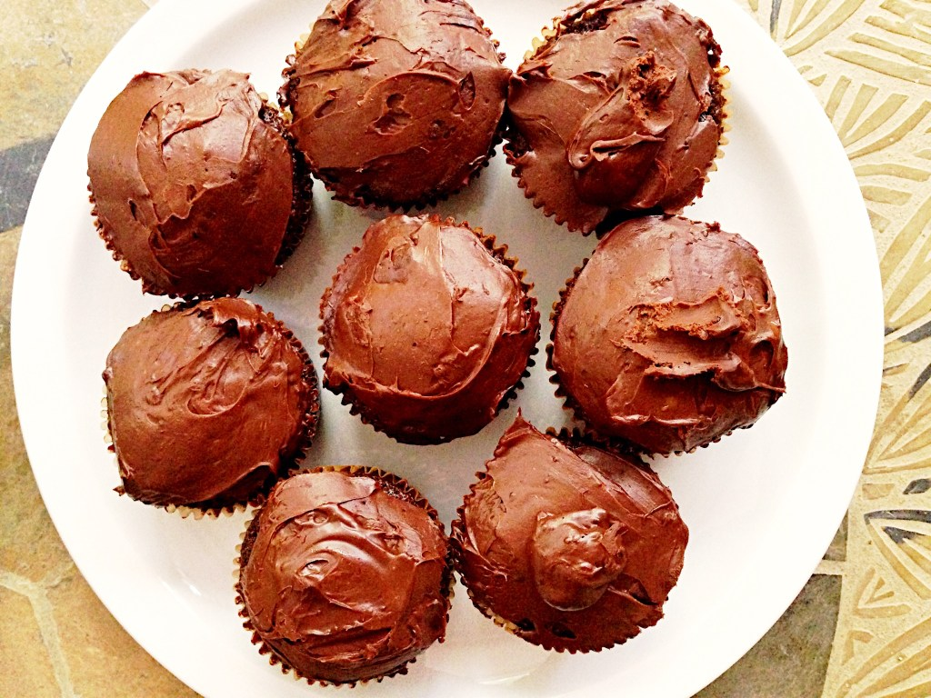 Chocolate Cupcakes & Two Ingredient Frosting {Grain Free}