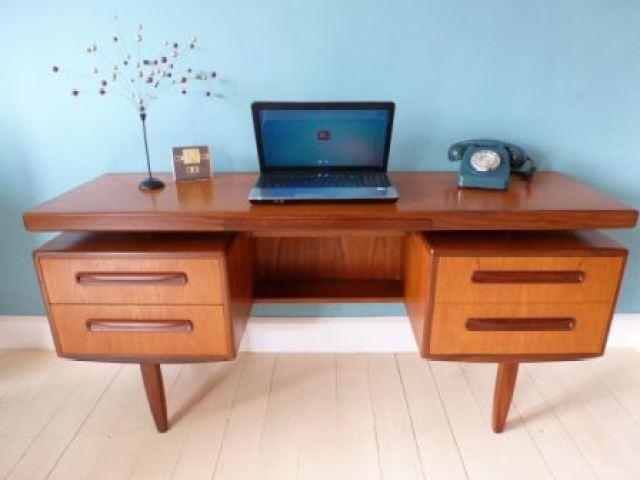 Vintage G Plan fresco desk dressing table as seen in Kate Beavis Vintage Home blog